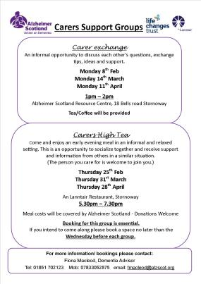 Carers Support Group Poster Jpeg