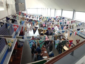 Barra Bunting over the cafe bar...