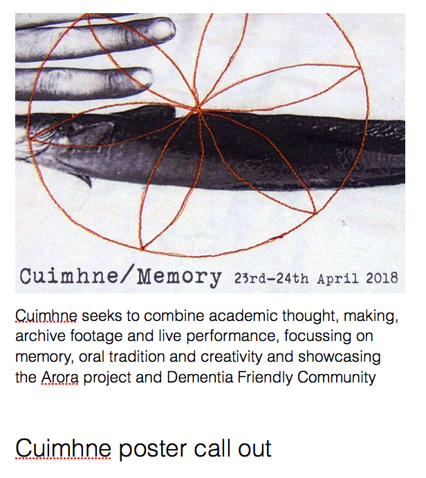 poster call out Cuimhne